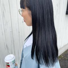 ネイビーカラー ネイビーブルー ネイビーアッシュ ネイビー ヘアスタイルや髪型の写真・画像