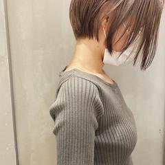 ショートヘア ショート ハイライト ハイトーン ヘアスタイルや髪型の写真・画像