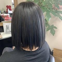 ハイライト モード ボブ アッシュグレー ヘアスタイルや髪型の写真・画像