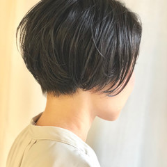 ナチュラル 大人女子 ショートボブ かっこいい ヘアスタイルや髪型の写真・画像