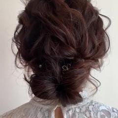 結婚式 ふわふわヘアアレンジ 二次会 ヘアアレンジ ヘアスタイルや髪型の写真・画像