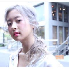 ストリート ヘアアレンジ 編み込み 外国人風 ヘアスタイルや髪型の写真・画像