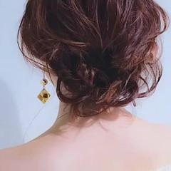 ふんわり セミロング デート ヘアアレンジ ヘアスタイルや髪型の写真・画像