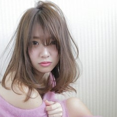 パーマ セミロング ストレート 縮毛矯正 ヘアスタイルや髪型の写真・画像