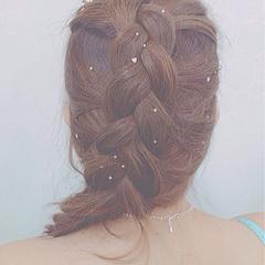 編み込み ヘアアレンジ 簡単ヘアアレンジ まとめ髪 ヘアスタイルや髪型の写真・画像