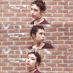 モード 外国人風 ブラウン パーマ ヘアスタイルや髪型の写真・画像
