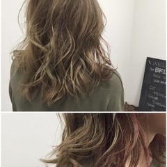 グラデーションカラー ミディアム ストリート ダブルカラー ヘアスタイルや髪型の写真・画像