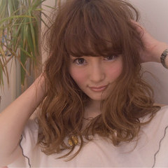 ニュアンス セミロング 大人女子 こなれ感 ヘアスタイルや髪型の写真・画像