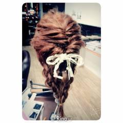 ナチュラル ヘアアレンジ ロング 編み込み ヘアスタイルや髪型の写真・画像