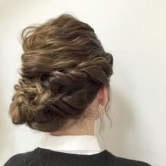 ヘアアレンジ フェミニン ハイライト ロング ヘアスタイルや髪型の写真・画像
