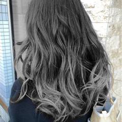 暗髪 ゆるふわ ナチュラル ロング ヘアスタイルや髪型の写真・画像