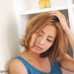 グラデーションカラー 外国人風 渋谷系 ボブ ヘアスタイルや髪型の写真・画像