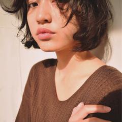 ガーリー 暗髪 色気 冬 ヘアスタイルや髪型の写真・画像