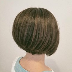 ボブ リラックス オフィス ナチュラル ヘアスタイルや髪型の写真・画像