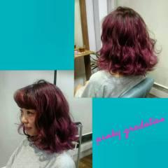 グラデーションカラー ストリート ウェットヘア パンク ヘアスタイルや髪型の写真・画像