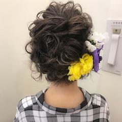 ボブ 成人式 ハイライト ロブ ヘアスタイルや髪型の写真・画像