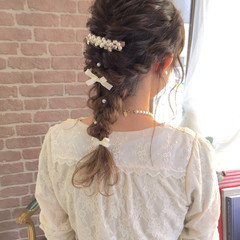 結婚式 グラデーションカラー ヘアアレンジ 大人かわいい ヘアスタイルや髪型の写真・画像