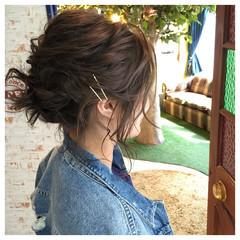 簡単ヘアアレンジ ボブ 夏 ヘアアレンジ ヘアスタイルや髪型の写真・画像