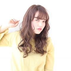アンニュイ フェミニン ウェーブ ロング ヘアスタイルや髪型の写真・画像