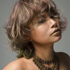 ボブ パーマ 外国人風カラー モード ヘアスタイルや髪型の写真・画像