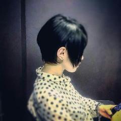 ボーイッシュ メンズ 刈り上げ ショート ヘアスタイルや髪型の写真・画像