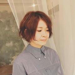 色気 ボブ パーマ 秋 ヘアスタイルや髪型の写真・画像