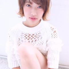ショート モテ髪 大人かわいい ガーリー ヘアスタイルや髪型の写真・画像