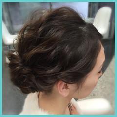 結婚式 二次会 ヘアアレンジ フェミニン ヘアスタイルや髪型の写真・画像