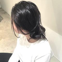 外国人風 ゆるふわ ミディアム 簡単ヘアアレンジ ヘアスタイルや髪型の写真・画像