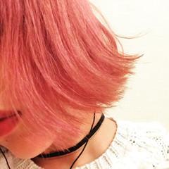 外国人風 ピンク ベリーピンク 渋谷系 ヘアスタイルや髪型の写真・画像