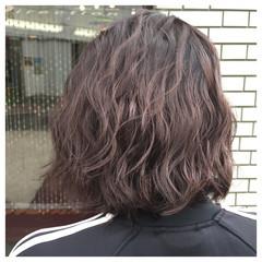 ストリート アッシュ 波ウェーブ ハイライト ヘアスタイルや髪型の写真・画像