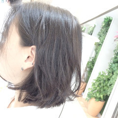外ハネ アッシュ 暗髪 ストリート ヘアスタイルや髪型の写真・画像