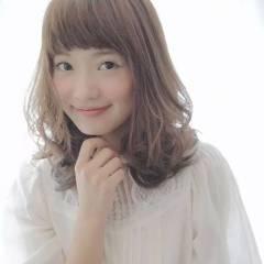 秋 コンサバ ミディアム ゆるふわ ヘアスタイルや髪型の写真・画像