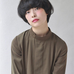 黒髪 大人かわいい フェミニン 暗髪 ヘアスタイルや髪型の写真・画像
