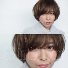 アッシュ ナチュラル 色気 ショート ヘアスタイルや髪型の写真・画像