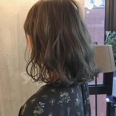 黒髪 ナチュラル デート ミディアム ヘアスタイルや髪型の写真・画像