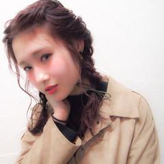 ツインテール セミロング ヘアアレンジ 簡単ヘアアレンジ ヘアスタイルや髪型の写真・画像