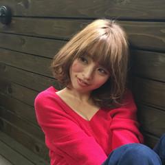 ブラウン かわいい モテ髪 ナチュラル ヘアスタイルや髪型の写真・画像
