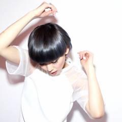 モード ヘアスタイルや髪型の写真・画像