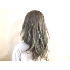 外国人風 渋谷系 ミディアム ハイライト ヘアスタイルや髪型の写真・画像