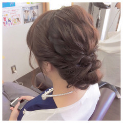 ロング 簡単ヘアアレンジ フェミニン ヘアアレンジ ヘアスタイルや髪型の写真・画像
