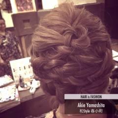 モテ髪 フェミニン まとめ髪 ヘアアレンジ ヘアスタイルや髪型の写真・画像