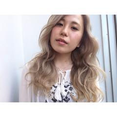 外国人風カラー 外国人風 ロング ピュア ヘアスタイルや髪型の写真・画像