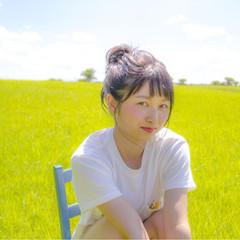 色気 夏 ミディアム 簡単ヘアアレンジ ヘアスタイルや髪型の写真・画像