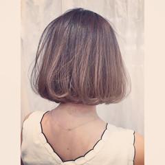 グラデーションカラー グレージュ アッシュ 外国人風カラー ヘアスタイルや髪型の写真・画像