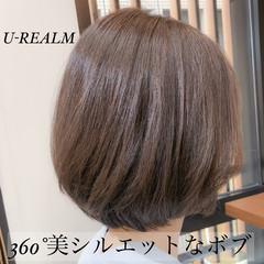 フェミニン 大人女子 オフィス ボブ ヘアスタイルや髪型の写真・画像