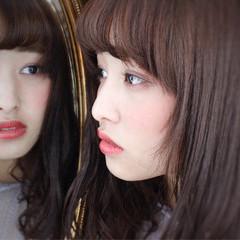 外国人風 フリンジバング ナチュラル パーマ ヘアスタイルや髪型の写真・画像