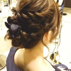 ヘアアレンジ 結婚式 モテ髪 コンサバ ヘアスタイルや髪型の写真・画像