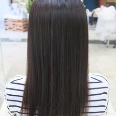 パーマ コンサバ 縮毛矯正 セミロング ヘアスタイルや髪型の写真・画像