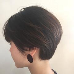 耳かけ ショート ストリート 小顔 ヘアスタイルや髪型の写真・画像